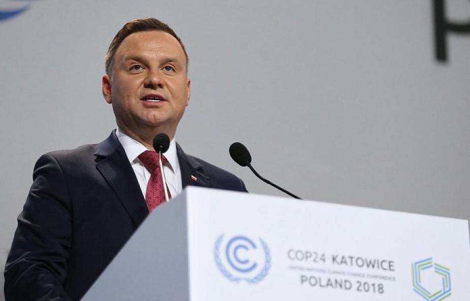 Szczyt klimatyczny COP24 w Katowicach oficjalnie otwarty. Prezydent: Polska jest dobrym przykładem zrównoważonego rozwoju