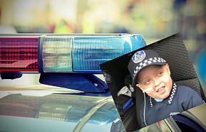 """Policjanci spełnili marzenie siedmiolatka chorującego na guza mózgu. """"Jesteście niesamowici"""""""