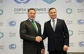 COP24: Prezydent Duda spotkał się z Arnoldem Schwarzeneggerem