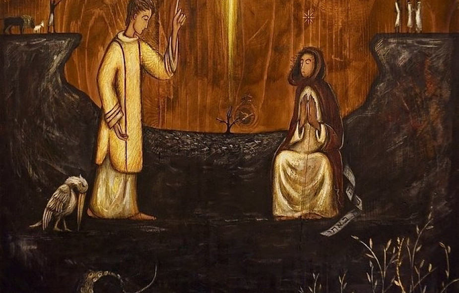 """Tajemnica Theotokos. Pierwsza scena z tryptyku """"Drzewo Życia"""""""