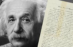 Jeden ze swoich listów Albert Einstein napisał o Bogu. Właśnie sprzedano go za rekordową sumę