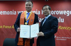 Korea Południowa: prezydent Duda odebrał tytuł Honorowego Obywatela Seulu