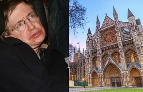 Stephen Hawking spocznie w opactwie Westminsterskim w Londynie
