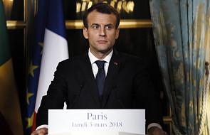 Macron apeluje do Rosji o wywarcie presji na reżim Asada