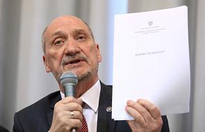 Macierewicz: raport koncentruje się na kwestiach technicznych, nie jest raportem końcowym