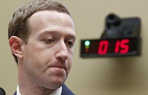 Dlaczego Facebook blokował katolickie strony? Zuckerberg tłumaczył się przed Kongresem