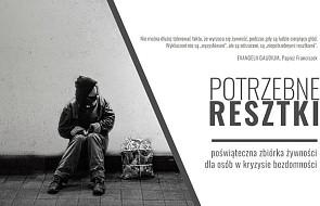 """Kraków: """"Potrzebne resztki"""" - poświąteczna zbiórka żywności dla osób bezdomnych"""