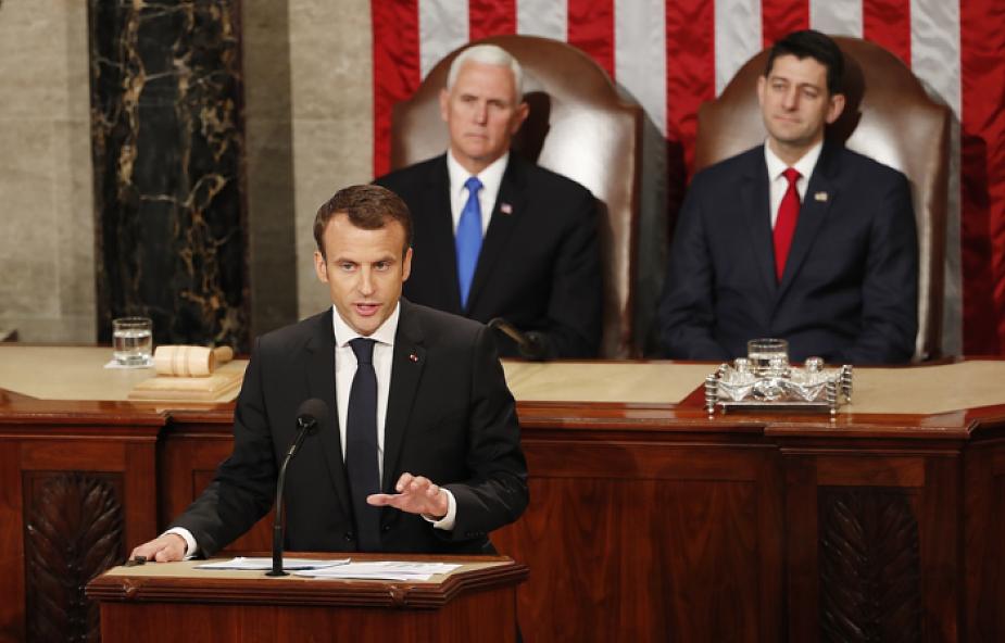Prezydent Francji Emmanuel Macron na Kapitolu krytykuje nacjonalizm