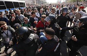 Aleksiej Nawalny zatrzymany na demonstracji w Moskwie. Jego zwolennicy wyszli na ulice