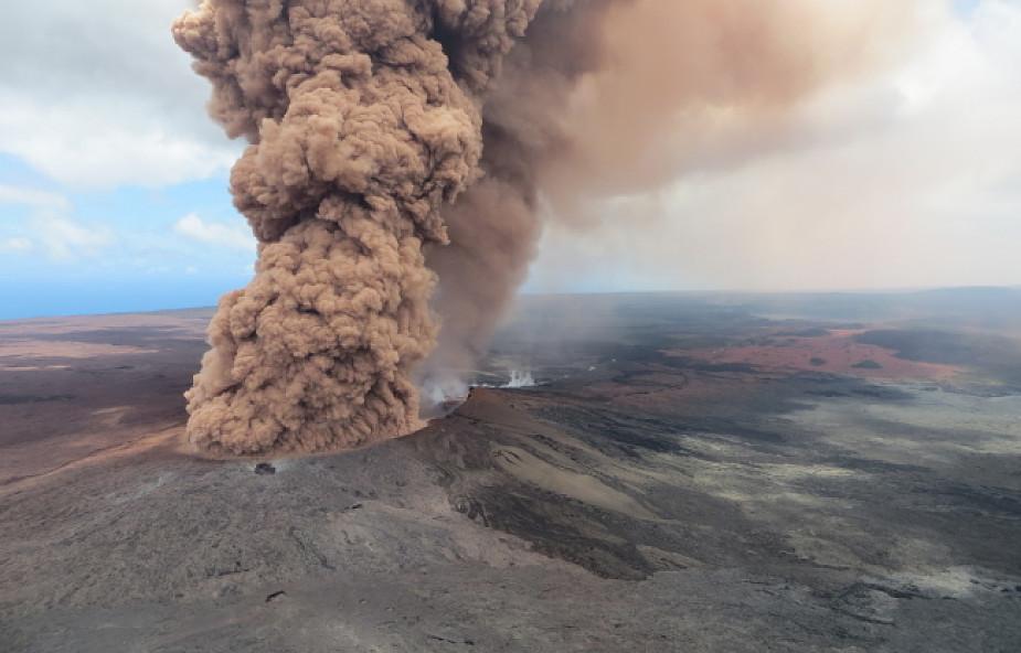 Seria wstrząsów tektonicznych po erupcji wulkanu na Hawajach