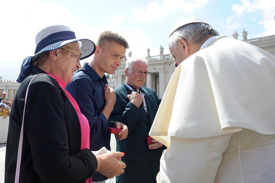 Tak wyglądało spotkanie Tomasza Komendy z papieżem Franciszkiem [GALERIA] - zdjęcie w treści artykułu nr 7