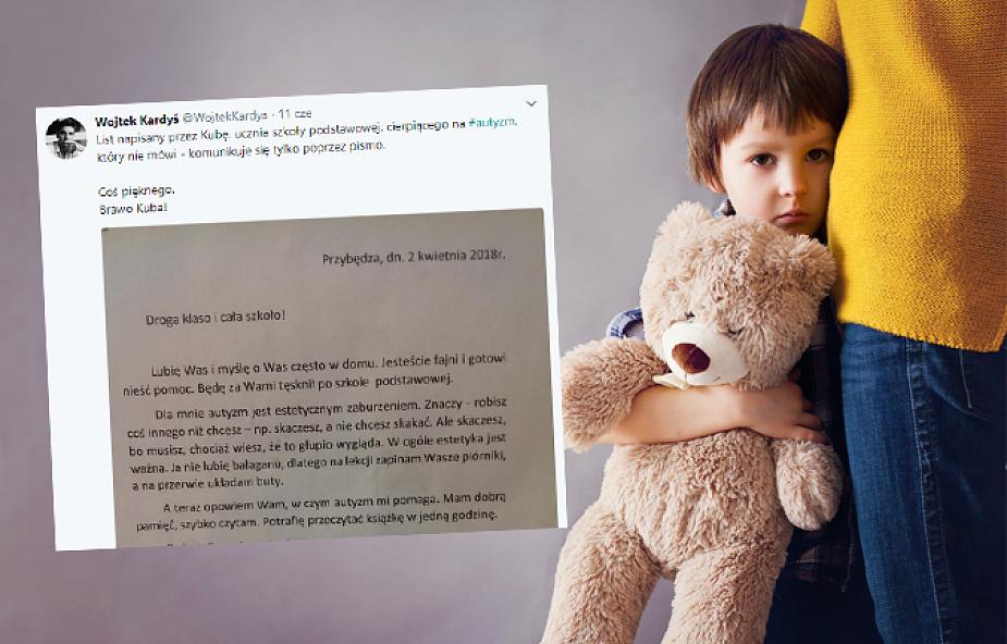 Kuba ma autyzm. Napisał szczery list do rówieśników, w którym tłumaczy swoje zachowanie
