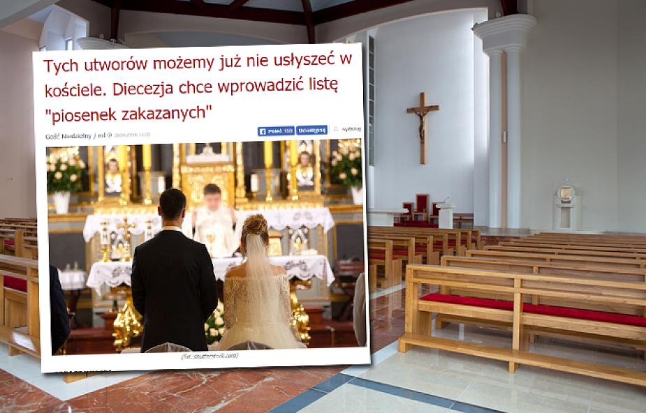 Czy diecezja zakaże wykonywania takich piosenek? Mamy komentarz eksperta liturgisty