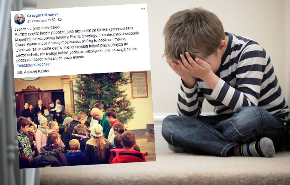 Grzegorz Kramer SJ konkretnie o klapsach dla dzieci