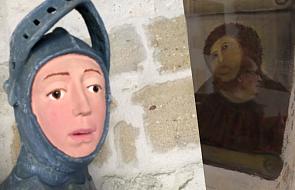 Zabawny efekt renowacji zabytkowej rzeźby. Potężny święty przypomina postać z kreskówki