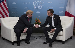 Kanada: Macron i Trump zadowoleni z postępów w negocjacjach handlowych