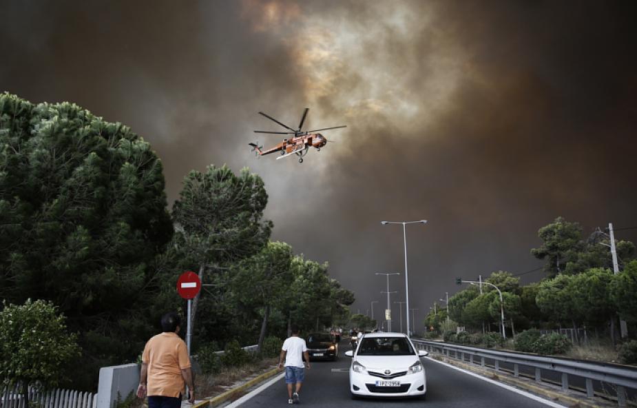 Grecja: z powodu upału zamknięto Akropol; pożar szaleje na zachód od Aten
