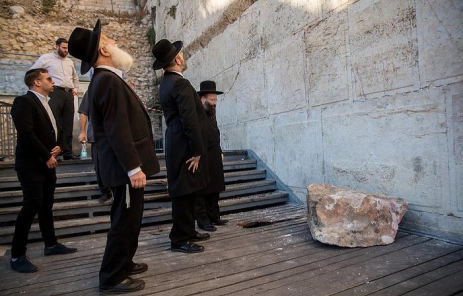 """Od Ściany Płaczu oderwał się 100-kilogramowy kamień. """"To wielki cud"""" [WIDEO]"""