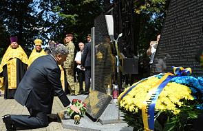 Prezydent Ukrainy przybył do Sahrynia oddać hołd pomordowanym tu Ukraińcom