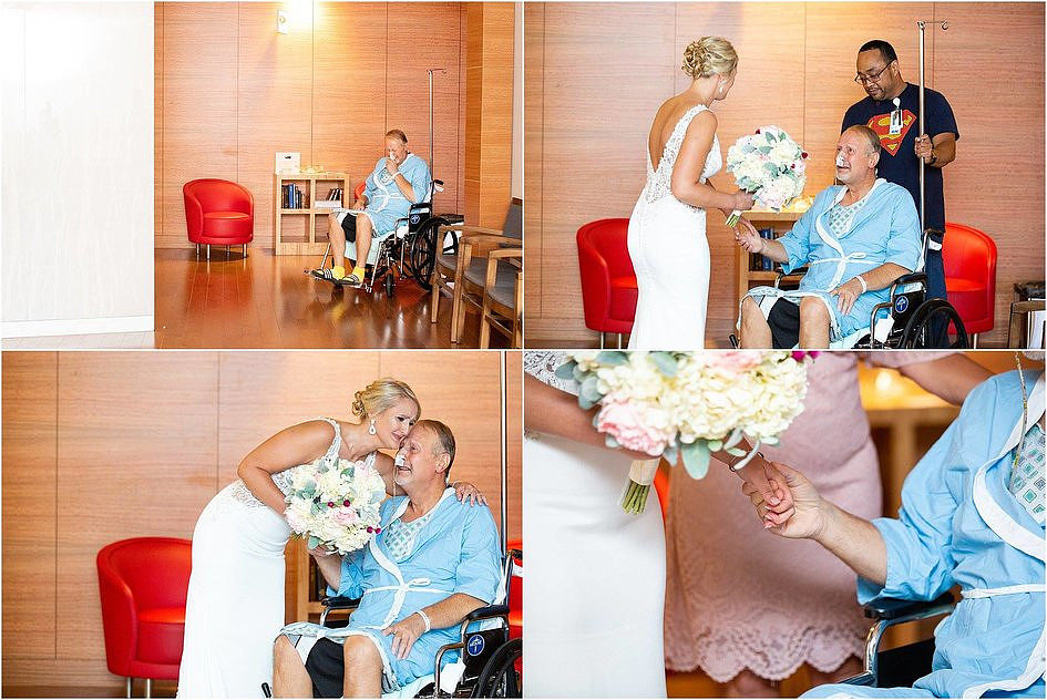 W dniu ślubu tata panny młodej przebywał w szpitalu. Ceremonię przeniesiono właśnie tam - zdjęcie w treści artykułu