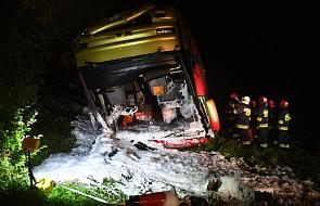 Wypadek ukraińskiego autokaru na Podkarpaciu: 3 osoby zginęły, 18 rannych