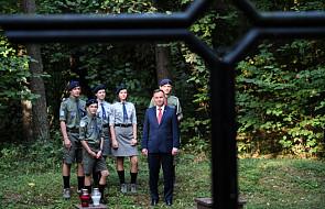 Prezydent złożył wieniec pod pomnikiem Polaków rozstrzelanych w Lesie Szpęgawskim