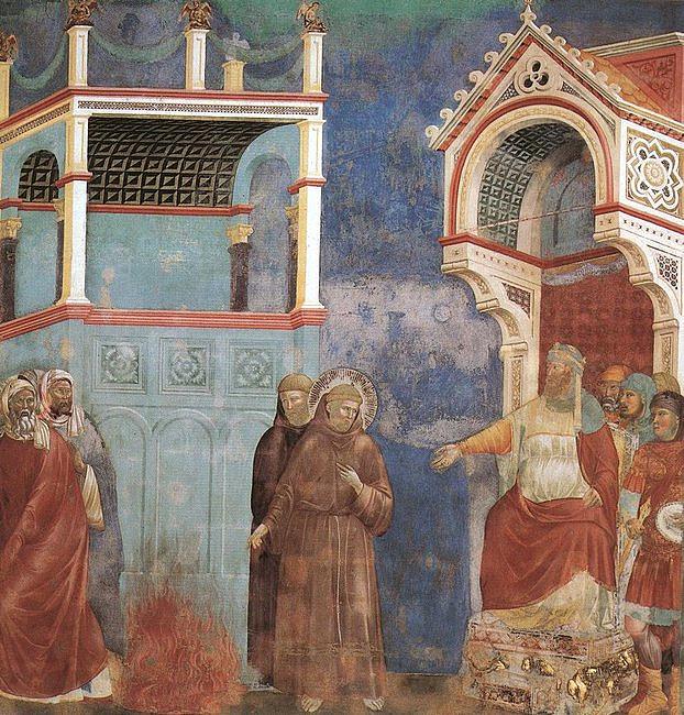 Zakonnicy w habitach tańczą do piosenki o świętym Franciszku.