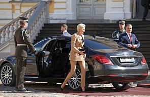 Para prezydencka powitana w Pałacu w Rundale na Łotwie