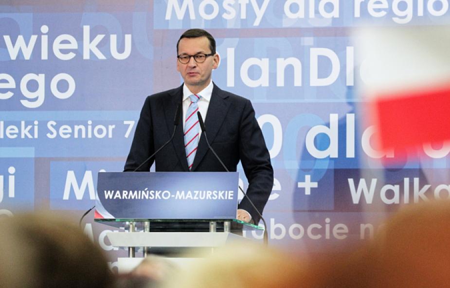 Morawiecki: warto dać szansę młodym, bardzo dynamicznym i wiarygodnym ludziom z wizją