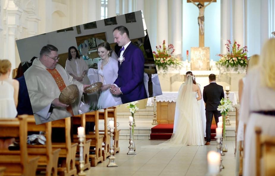 """Podczas ślubu ksiądz zaskoczył młodych: """"tradycją jest taca, ale u nas..."""""""