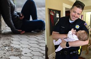 Policjant o wielkim sercu zrobił coś nieprawdopodobnego dla bezdomnej narkomanki