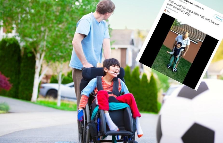 Jego syn ma porażenie mózgowe. Tata znalazł sposób na wspólną zabawę