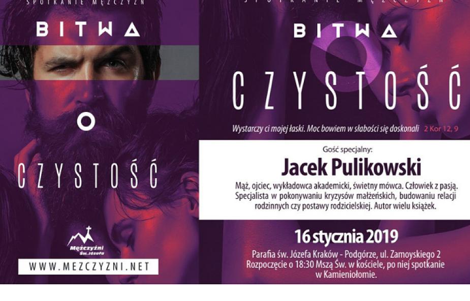 Jacek Pulikowski poprowadzi spotkanie o czystości w Krakowie. Nie tylko dla mężczyzn