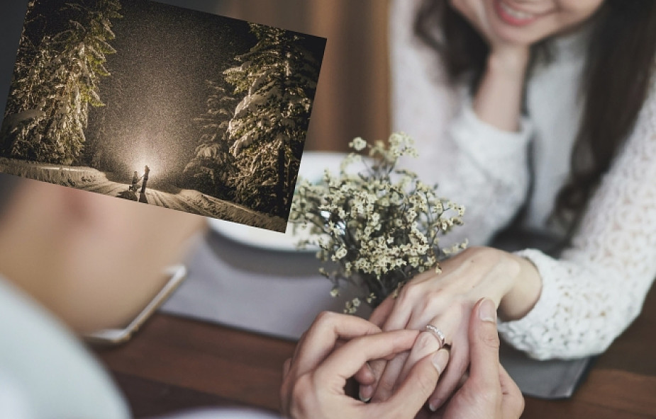 Zaręczyli się w Tatrach. Z pierwszymi gratulacjami przyszedł... niedźwiedź