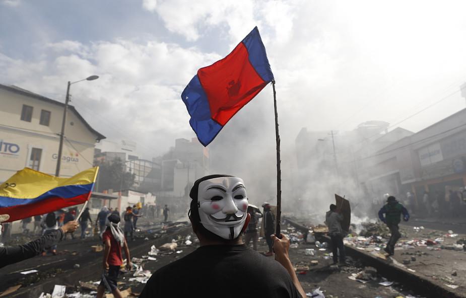 Ekwador pogrąża się w chaosie; wprowadzono godzinę policyjną