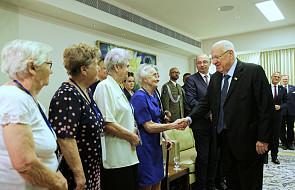 Jerozolima: Prezydent Izraela spotkał się z polskimi Sprawiedliwymi i delegacją państwową
