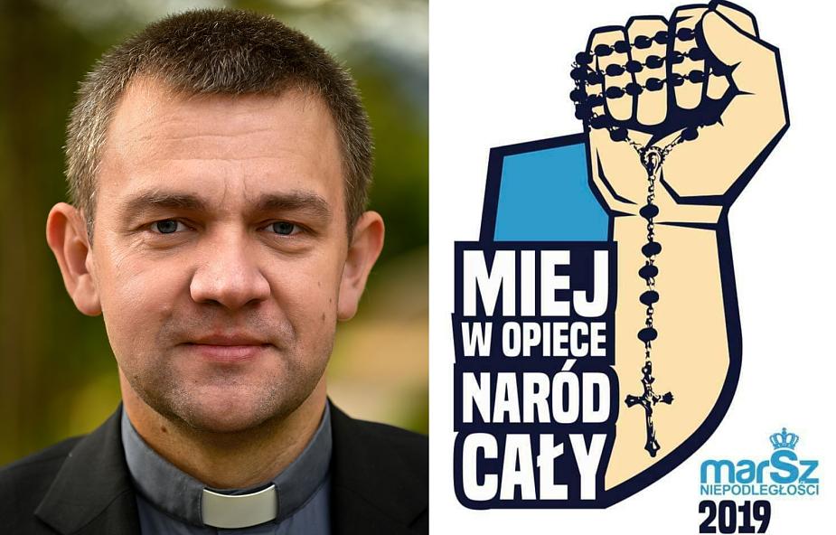 """Dariusz Piórkowski SJ komentuje słowa organizatora Marszu Niepodległości o """"Kościele walczącym"""""""