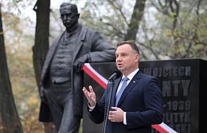 Andrzej Duda: odsłaniamy pomnik jednego z ojców naszej niepodległości
