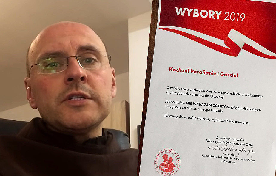 Proboszcz z Warszawy przygotował specjalny plakat na wybory, który robi furorę w sieci