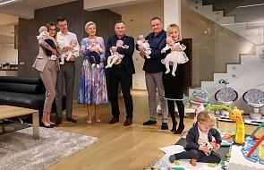 Para prezydencka odwiedziła rodziców sześcioraczków z okazji Światowego Dnia Wcześniaka