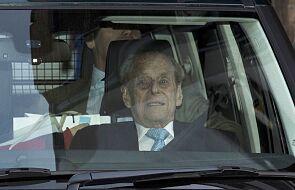 Książę Filip, mąż królowej Elzbiety II, wyszedł ze szpitala