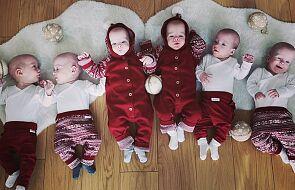 Pierwsze Boże Narodzenie sześcioraczków! Ich świąteczne zdjęcie jest naprawdę urocze