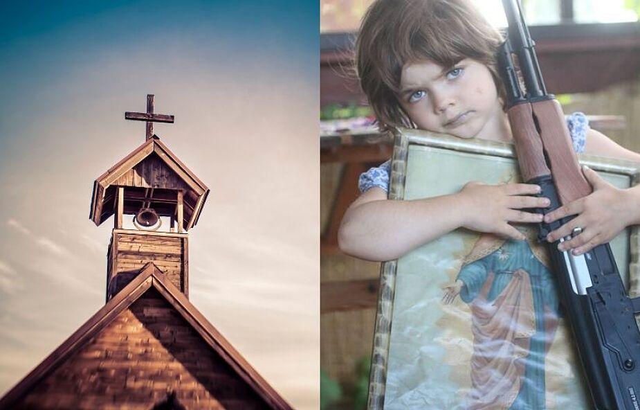 Dziewczynka z karabinem to kiepska reklama Kościoła
