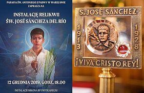 Już jutro wyjątkowe wydarzenie religijne w Warszawie. 14-letni święty znajdzie nowy dom