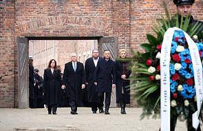 Andrzej Duda i Mike Pence złożyli wieńce przed Ścianą Straceń