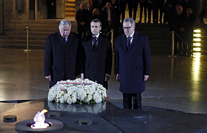 """""""Będziemy ustanawiać prawa i będziemy karać"""". Macron udał się na miejsce profanacji żydowskich grobów"""