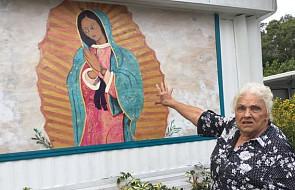 """Starsza pani broni muralu z Matką Bożą z Guadalupe. """"Najpierw będą musieli mnie zabić"""""""