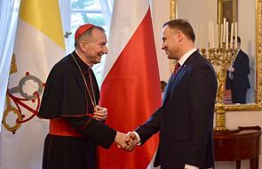 Prezydent Andrzej Duda spotkał się z Sekretarzem Stanu Stolicy Apostolskiej