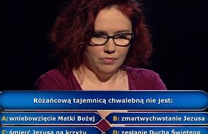 """""""Milionerzy"""": dostała pytanie o różaniec. Wygrała milion. Znalibyście odpowiedź?"""