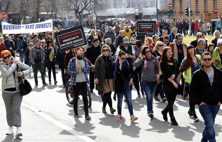 Chorwacja: protest dziennikarzy przeciwko ograniczaniu wolności mediów